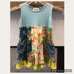 Matilda Jane bay winds tank dress girls 4 pockets